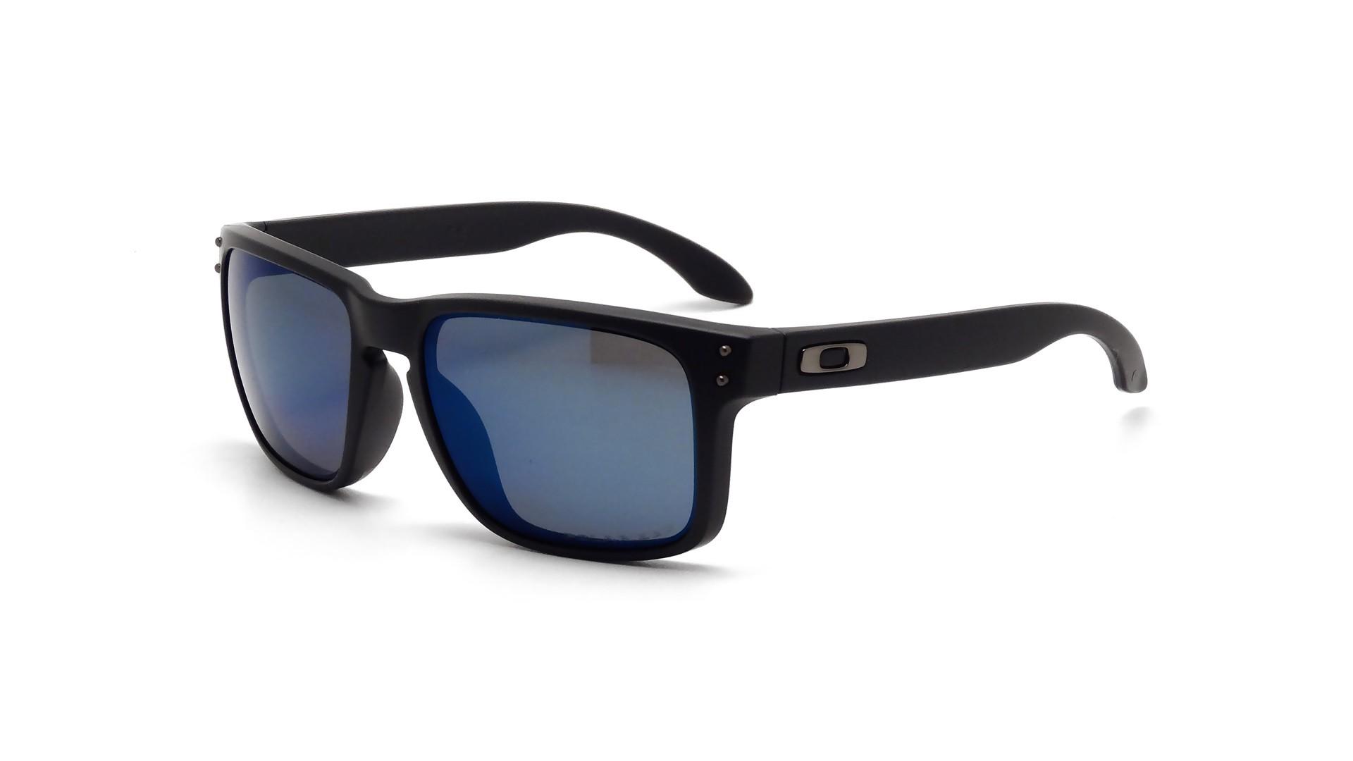 884a3480cd Sunglasses Oakley Holbrook Black OO9102 52 55-18 Medium Polarized Mirror