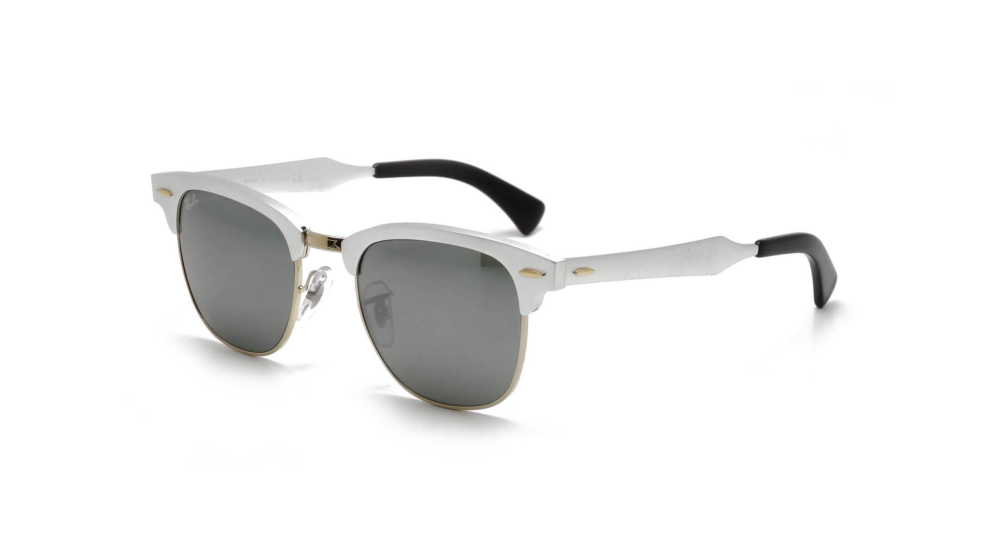 994b3bfedd8 Sunglasses Ray-Ban Clubmaster Aluminium Silver RB3507 137 40 49-21 Medium  Gradient Mirror