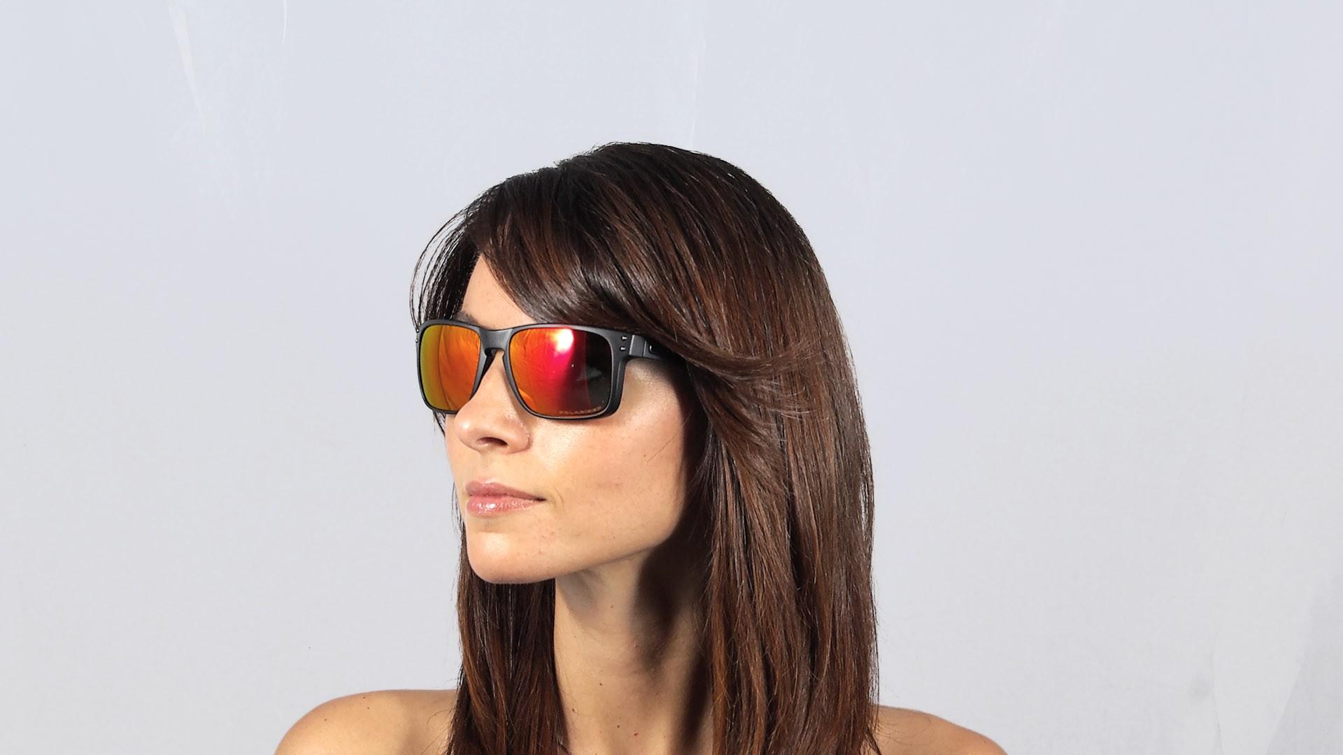 980e0f3528ed3 Sunglasses Oakley Holbrook Black Matte Iridium OO9102 51 55-18 Medium  Polarized Mirror