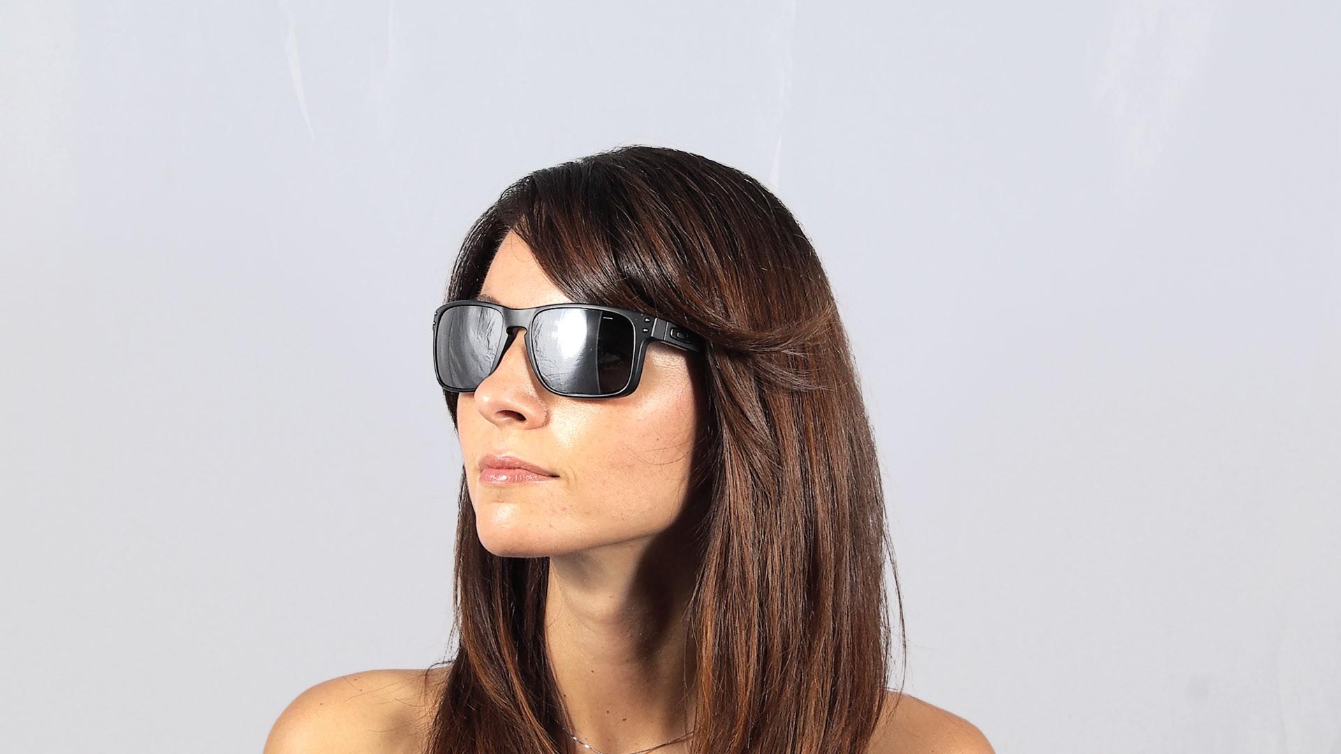 e2fdc9ab9a Sunglasses Oakley Holbrook Black OO9102 63 55-18 Medium Mirror