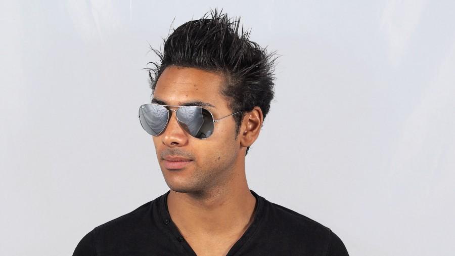 Sonnenbrillen Ray-Ban Aviator Large Metal Silber RB3025 003 40 62-14 Breit  Verspiegelte Gläser 029988bba68