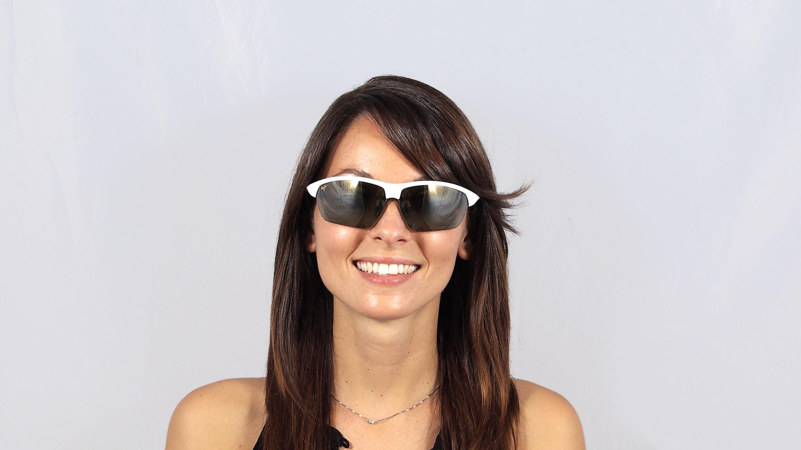 Sunglasses Maui Jim Stone Crusher White HT429-05 71-17 Large Polarized