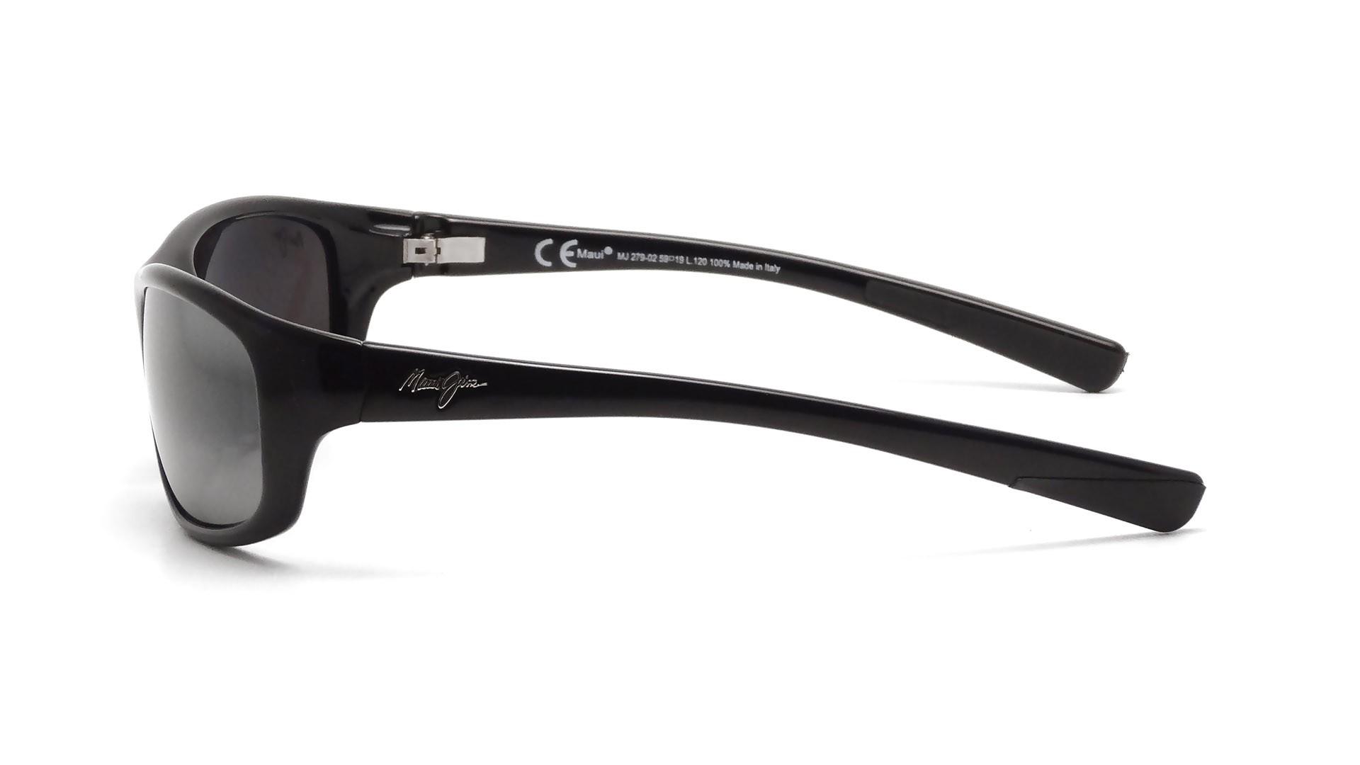 3ef28f82a42f Sunglasses Maui Jim Kipahulu Black 279-02 59-19 Large Polarized Mirror