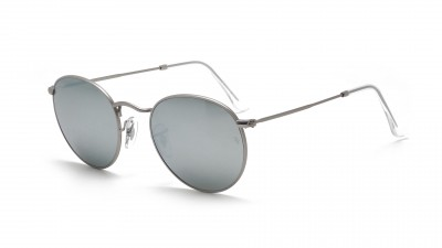 9dcf4c9fabcda Sunglasses Ray-Ban Round Metal Silver Flash Lenses RB3447 019 30 50-21  Medium Mirror