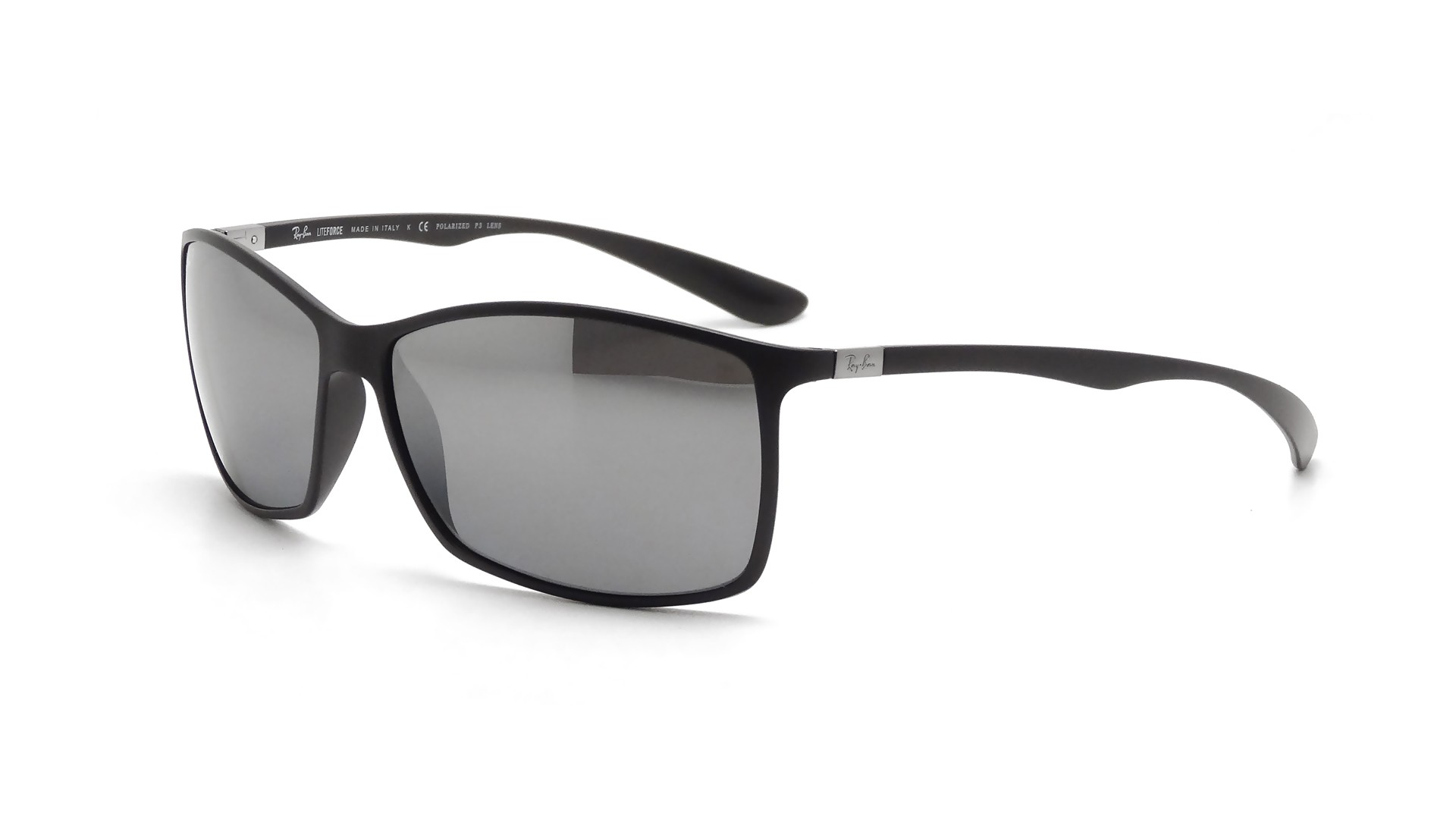 e39bc362ad0a7 Sunglasses Ray-Ban Tech Liteforce Black Matte RB4179 601S 82 62-15 Large  Polarized Mirror