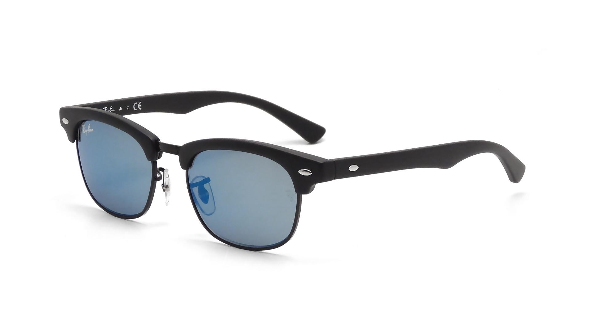 0c996be8bfe Sunglasses Ray-Ban Clubmaster Black Matte RJ9050S 100S 55 45-16 Junior  Mirror
