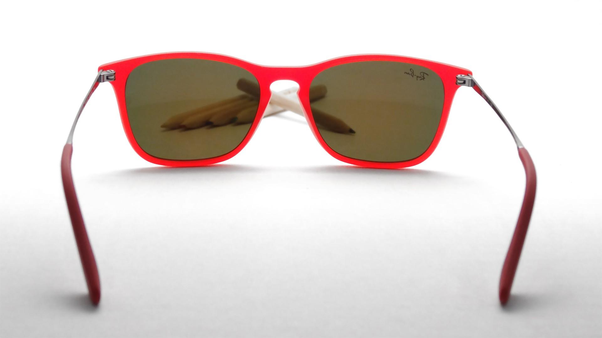99d1ee7ba57b96 Lunettes de soleil Ray-Ban Chris Rouge RJ9061S 7010 6Q 49-15 Junior Enfant  Miroirs