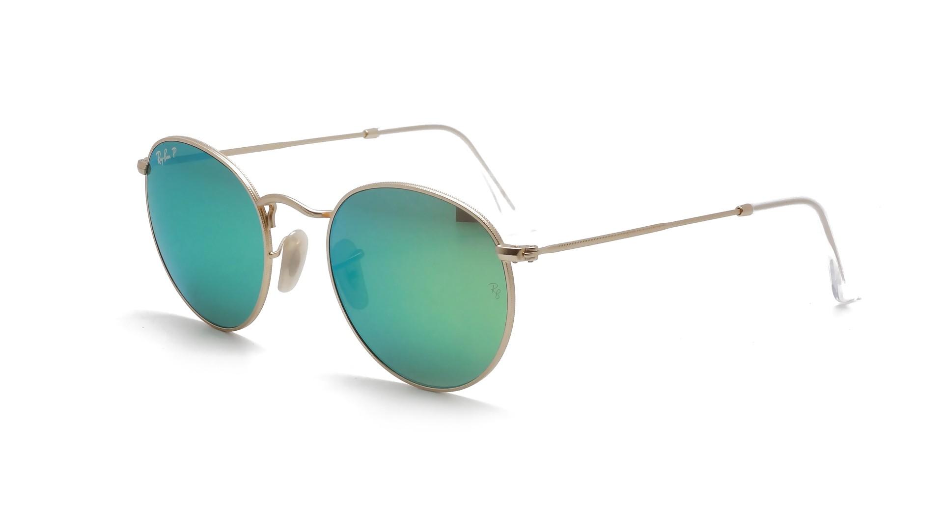 Sunglasses Ray-Ban Round Metal Gold Flash Lenses RB3447 112 P9 50-21 Medium  Polarized Mirror 66403f6baf
