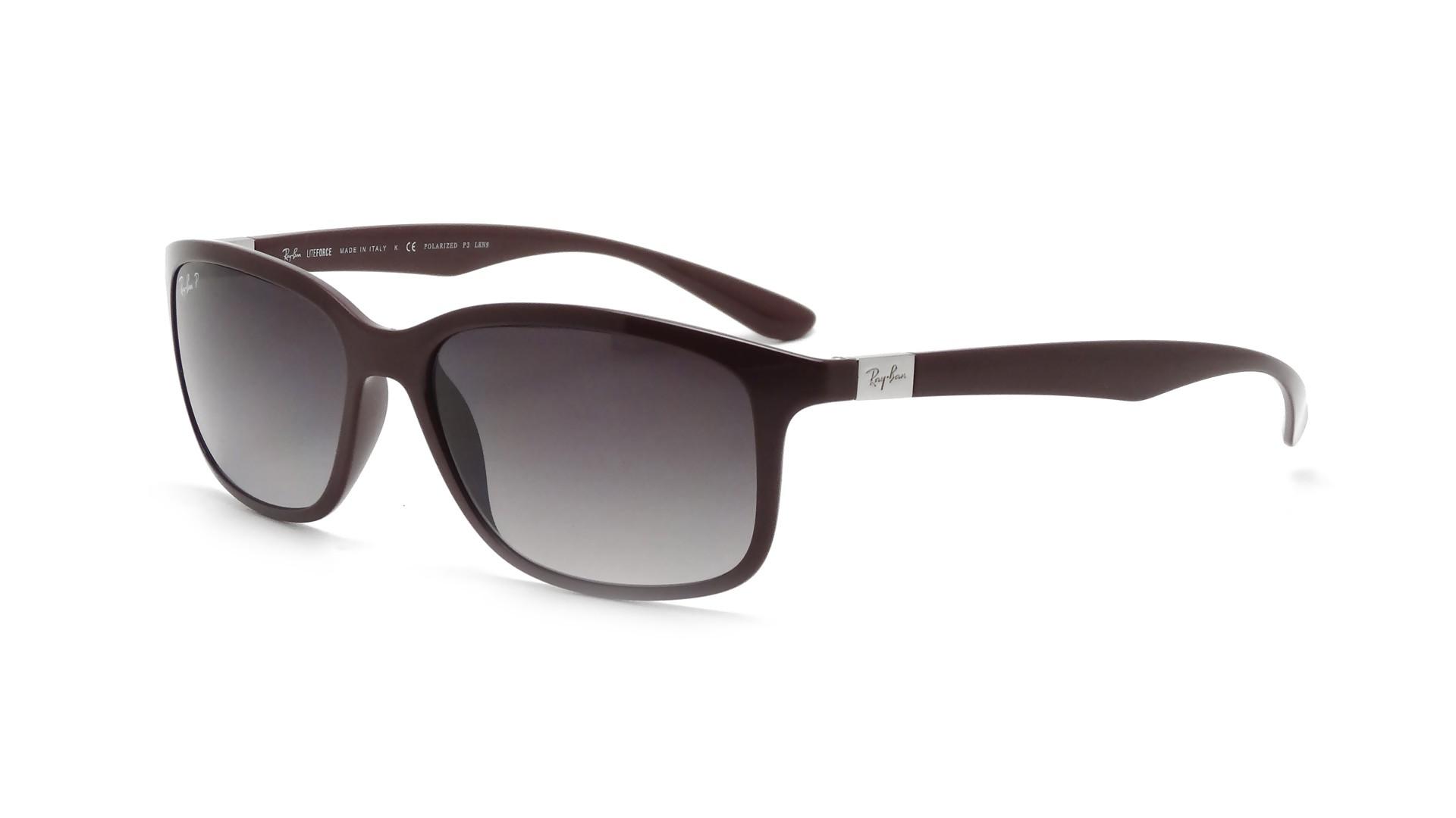 80d23e998cd Sunglasses Ray-Ban Tech Liteforce Purple RB4215 6128 T3 57-16 Large  Polarized Gradient