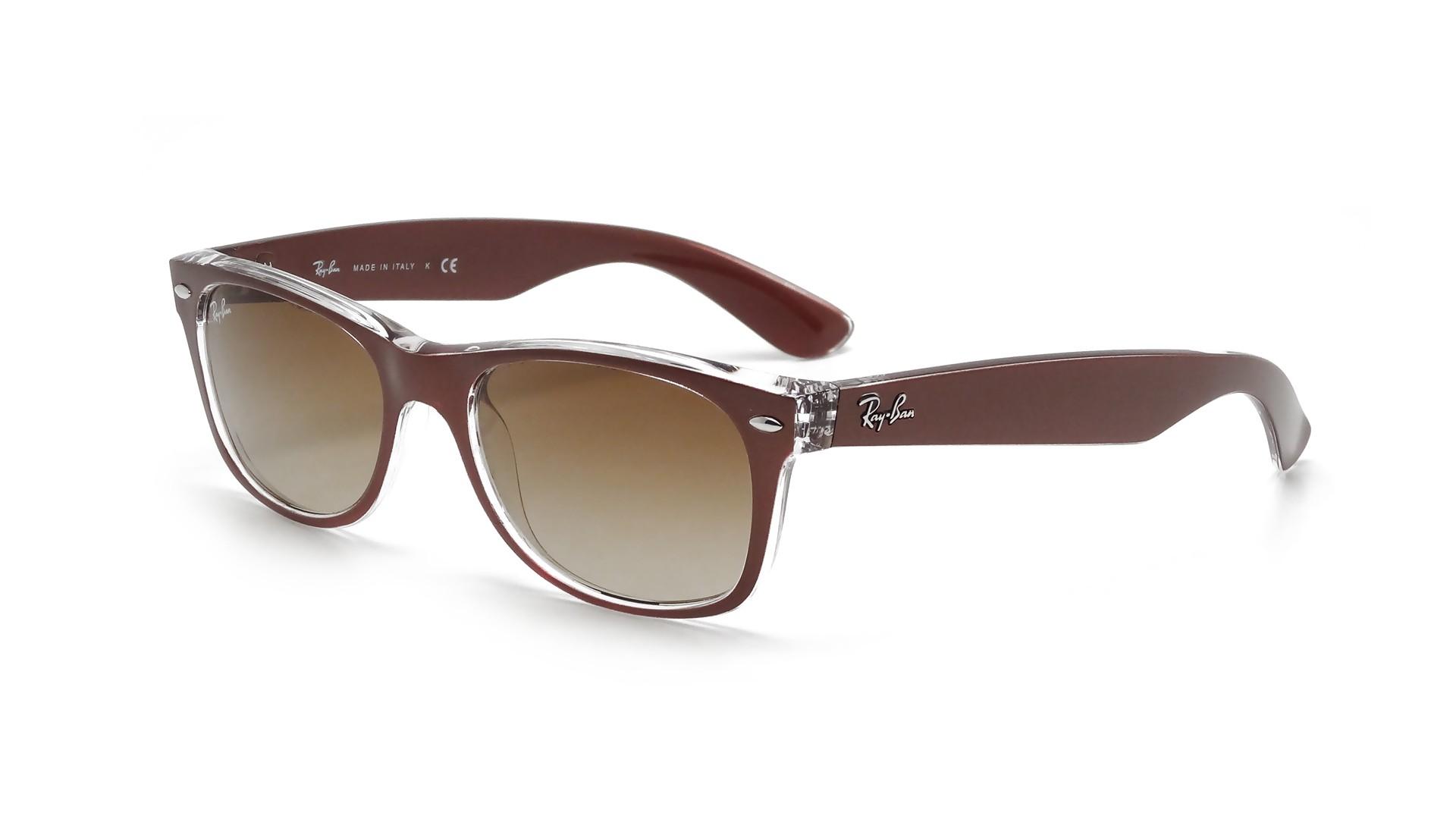 8527e92a90c Sunglasses Ray-Ban New Wayfarer Metal Effect Brown RB2132 6145 85 55-18  Large Gradient