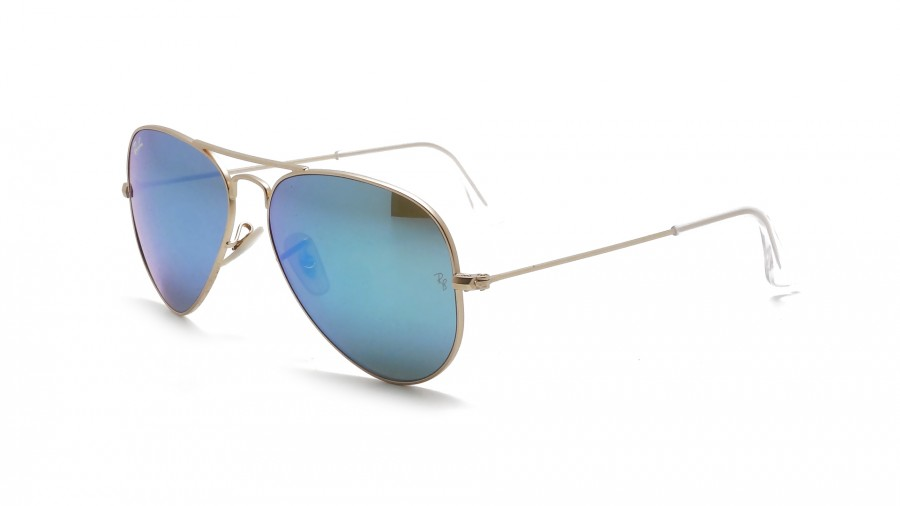 Ray Ban Aviator Large Metal RB3025 112/17 55 matte gold / blue mirror OWTkwPUeWP