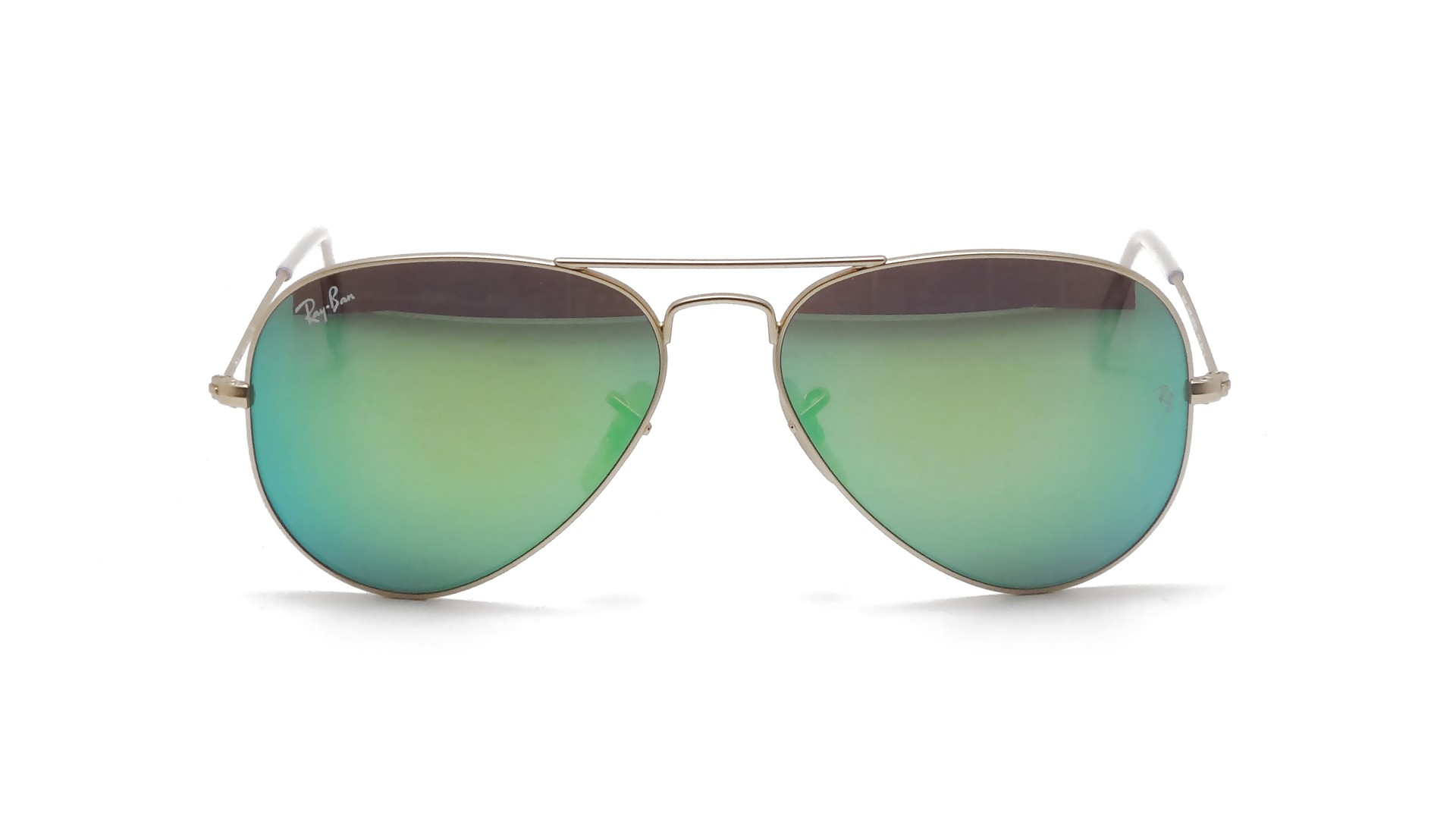 e3098864c1059 Ray-Ban Aviator Large Metal Or Mirrored Green RB3025 112 19 ...