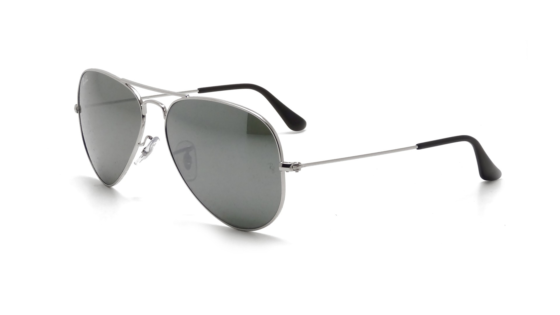 c98b305d257c4 Sunglasses Ray-Ban Aviator Large Metal Silver RB3025 W3277 58-14 Large  Mirror