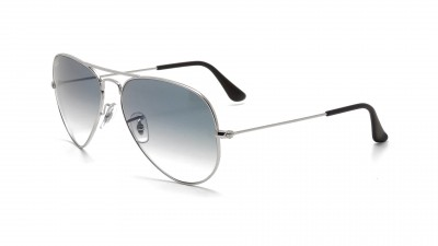 dc9b9082fb Sunglasses Ray-Ban Aviator Large Metal Silver RB3025 003 3F 55-14 Small  Gradient