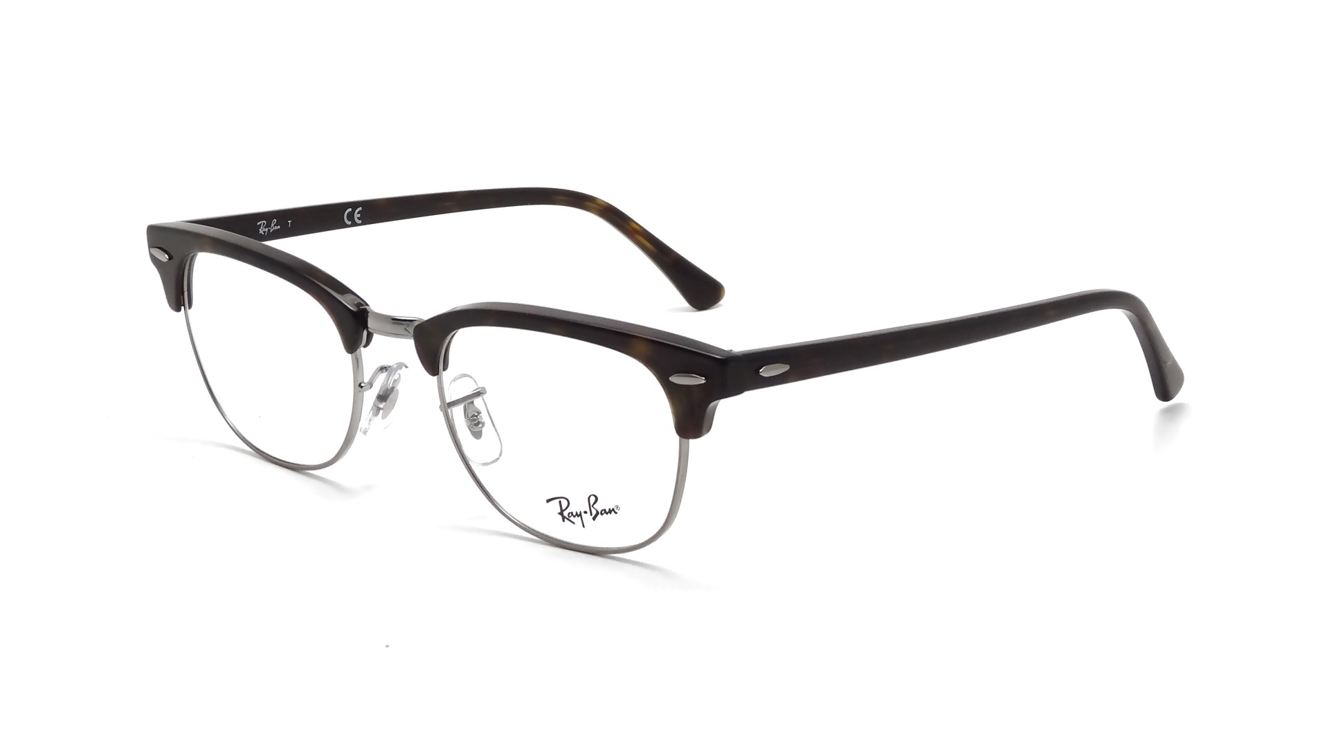 Lunettes de vue Ray-Ban Clubmaster Écaille RX5154 RB5154 2012 51-21   Prix  84,90 €   Visiofactory adc28ab953b2