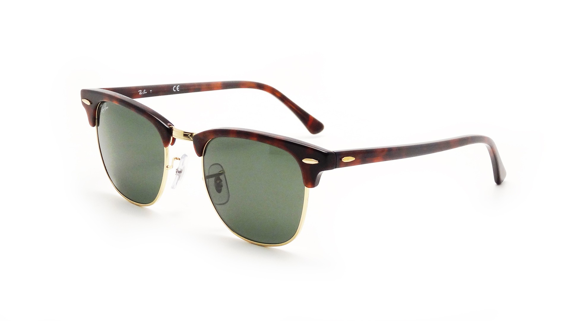 Lunettes de soleil Ray-Ban Clubmaster Classic Écaille RB3016 W0366 49-21  Small bbef2ad745b2