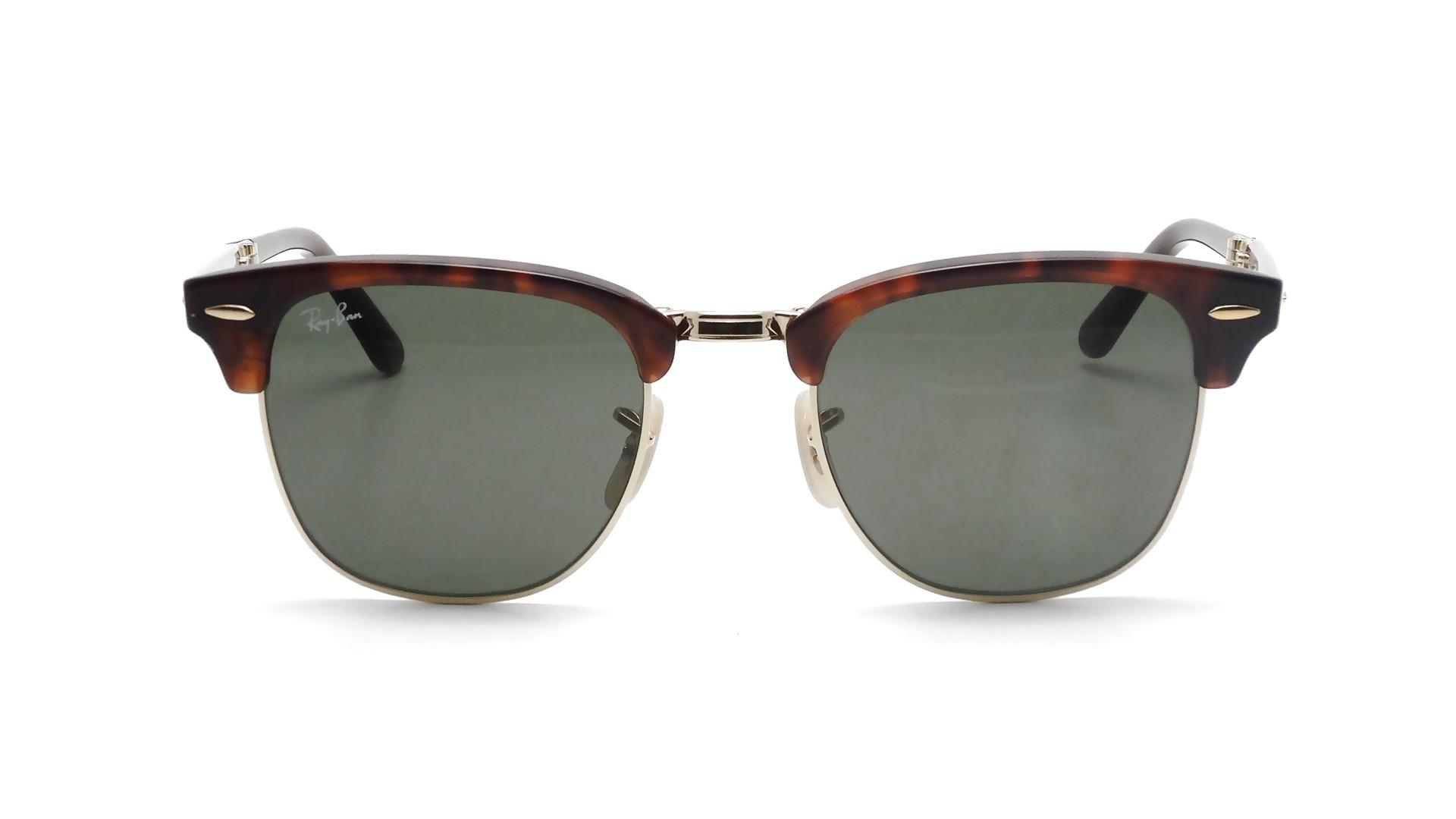 0ddcb80a7a4 Sunglasses Ray-Ban Clubmaster Folding RB2176 990 51-21 Havana Medium Folding