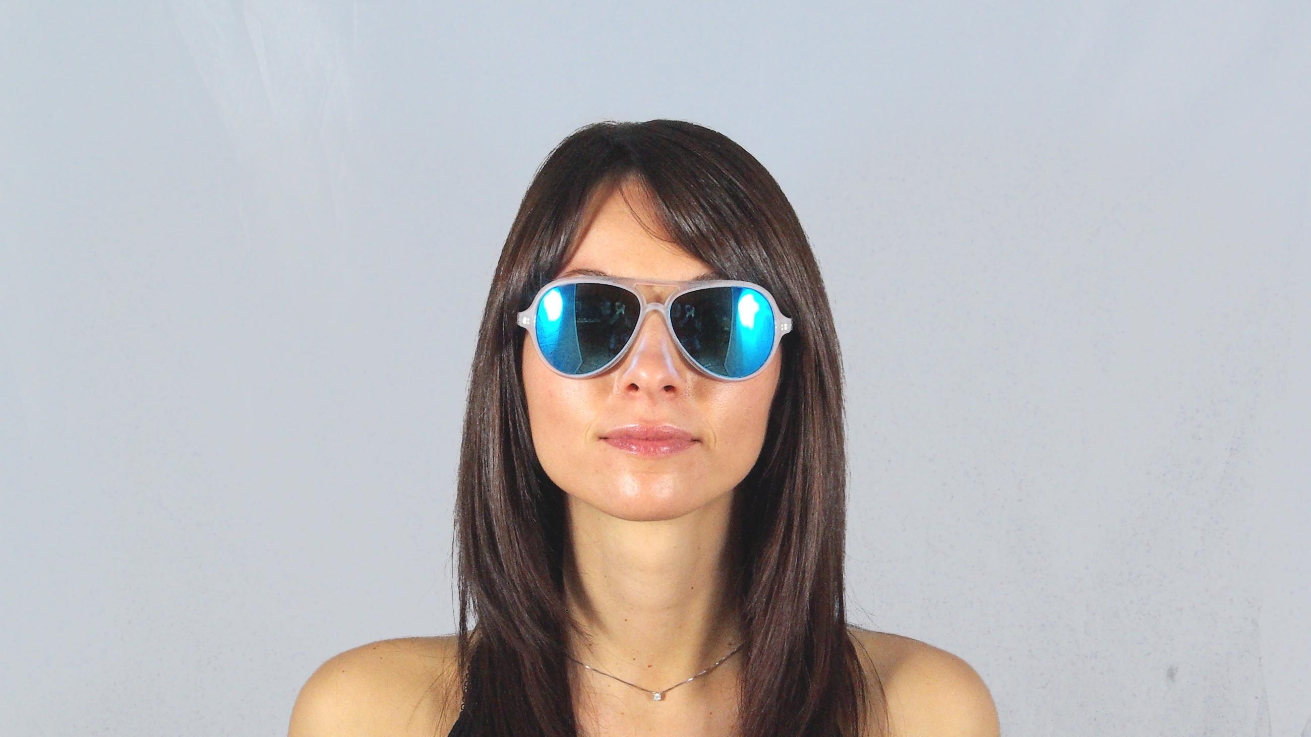 e61d1780e ... shop sunglasses ray ban rb 4125 cats 5000 646 17 transparent mirrored  blue flash lenses small