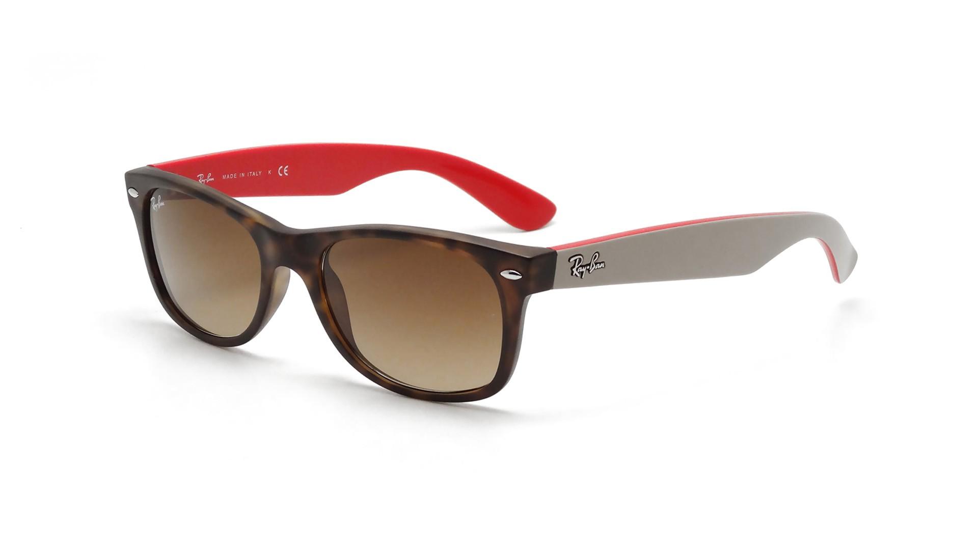 40652b87085 Sunglasses Ray-Ban New Wayfarer Tortoise RB2132 6181 85 52-18 Medium