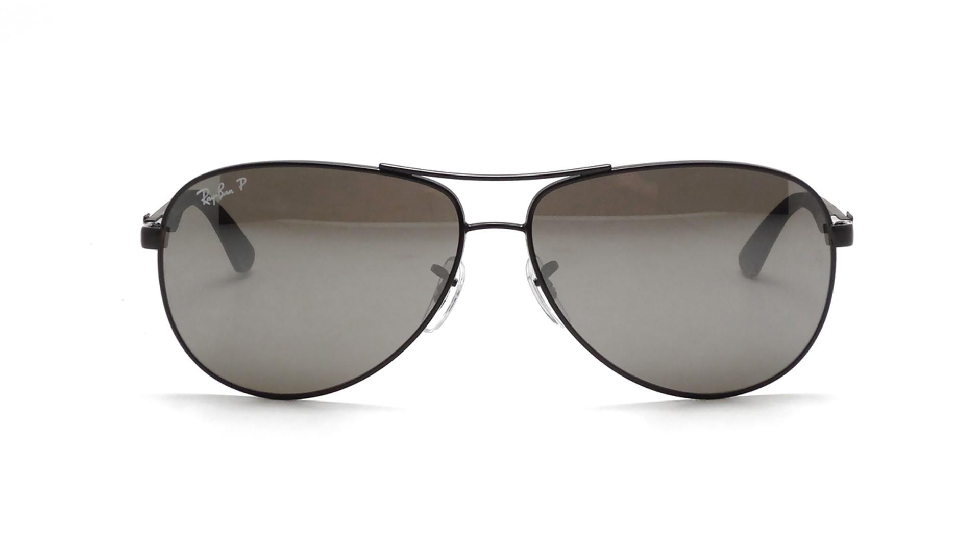 9b81478268e Sunglasses Ray-Ban Fibre Carbon Black RB8313 002 K7 61-13 Large Polarized  Mirror