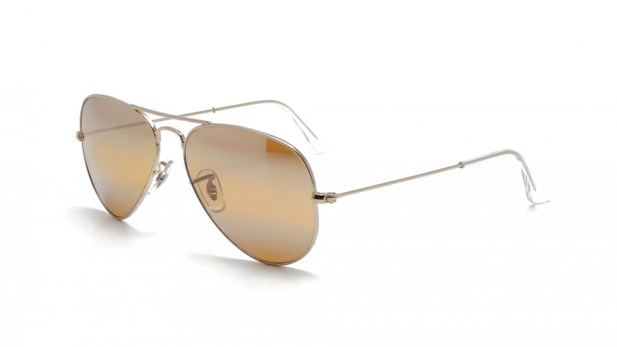 ray ban aviator miroir marron