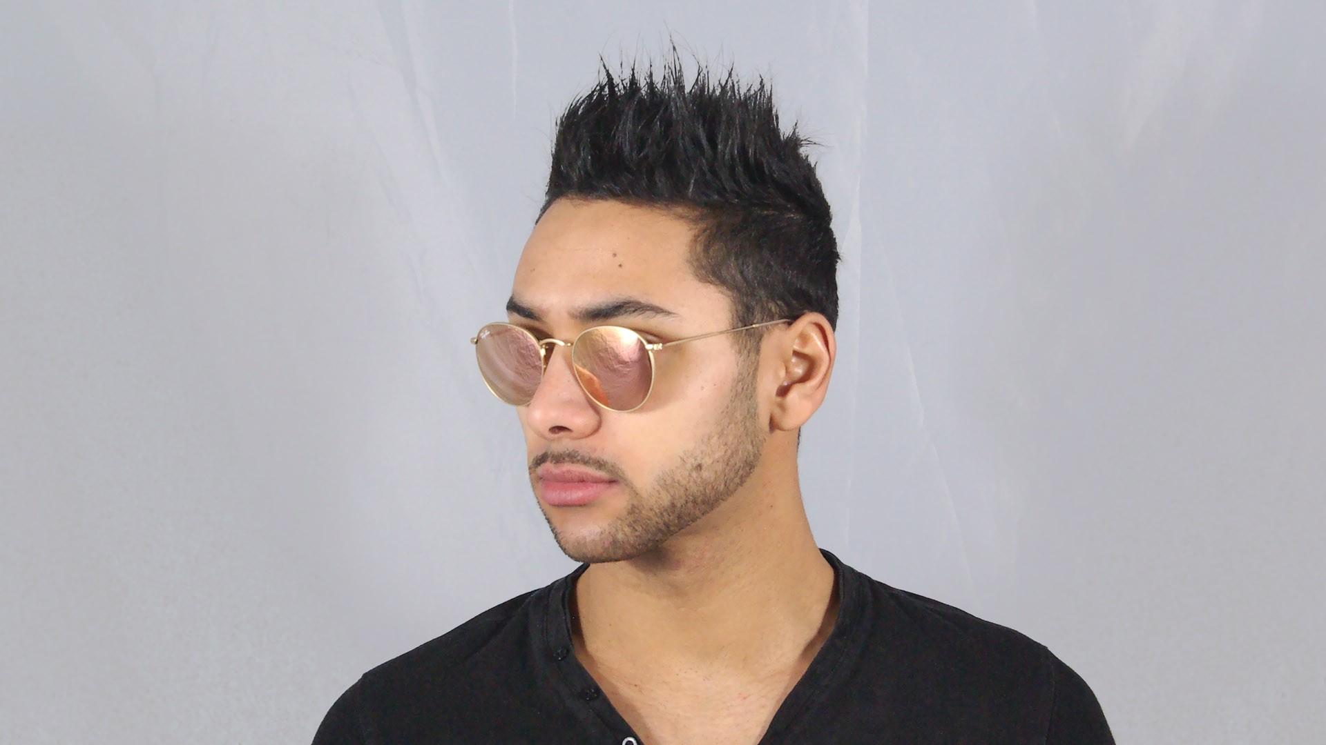 e0bde87822 Sunglasses Ray-Ban Round Metal Gold Flash Lenses RB3447 112 Z2 50-21 Medium  Mirror