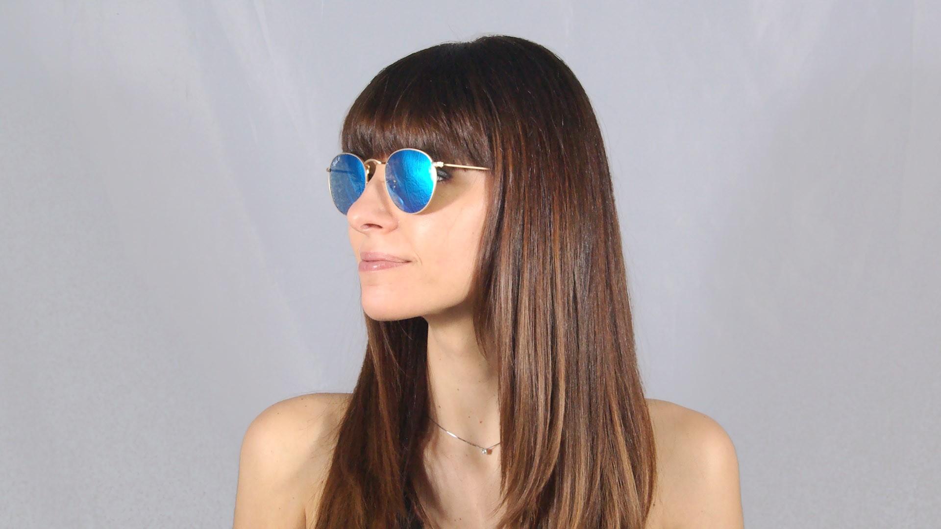 Sunglasses Ray-Ban Round Metal Gold Flash Lenses RB3447 112 4L 50-21 Medium  Polarized Mirror 4baf6eb733