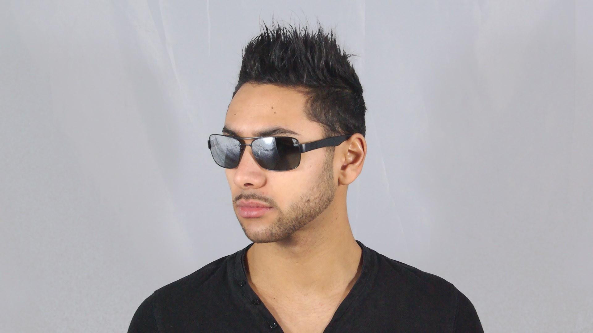 15aec2fde8 Sunglasses Ray-Ban RB3522 006 82 61-17 Black Medium Polarized Mirror