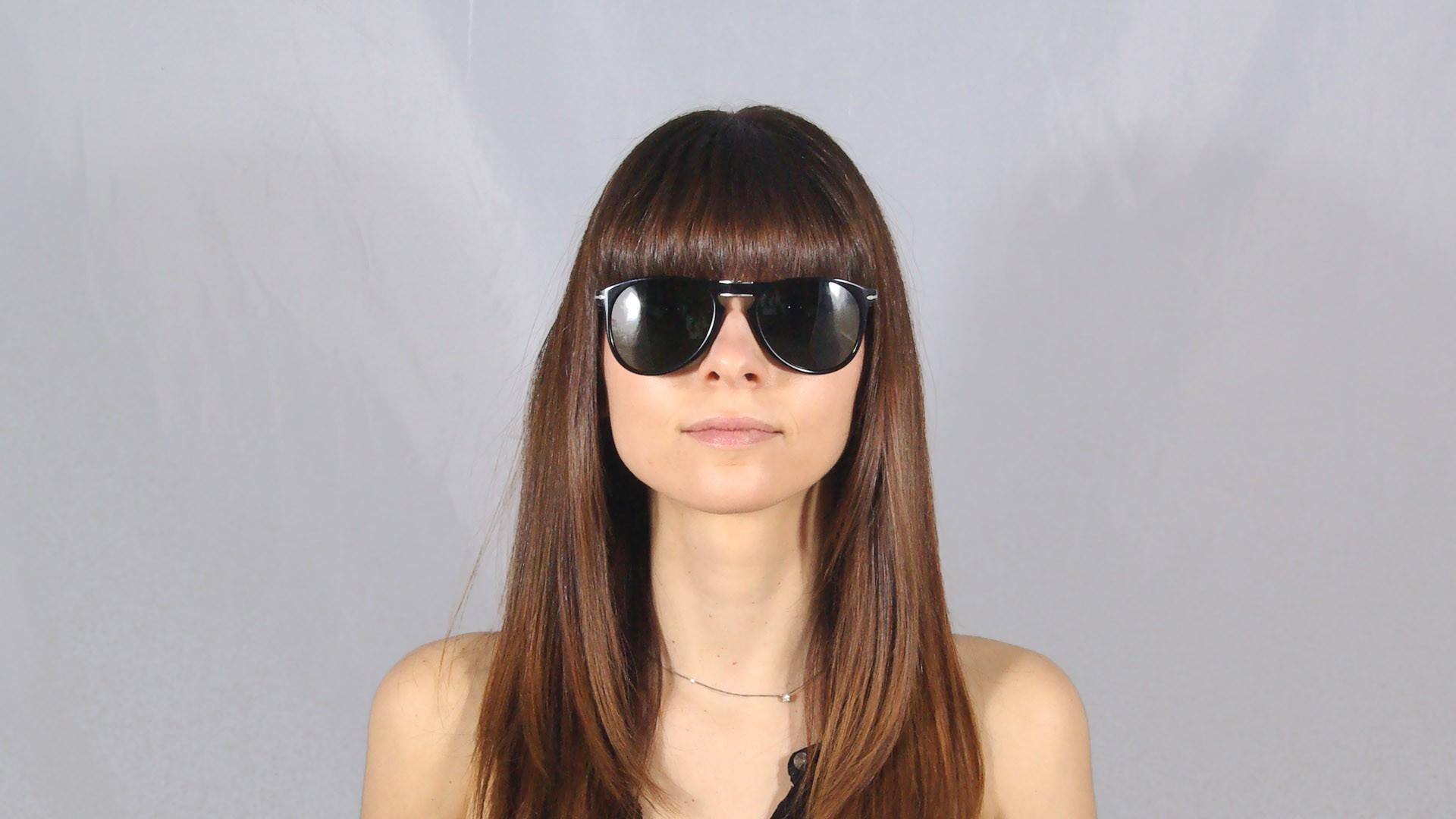 20f49cd9fd Sunglasses Persol PO9714S 95 31 55-20 Black Large Pliantes