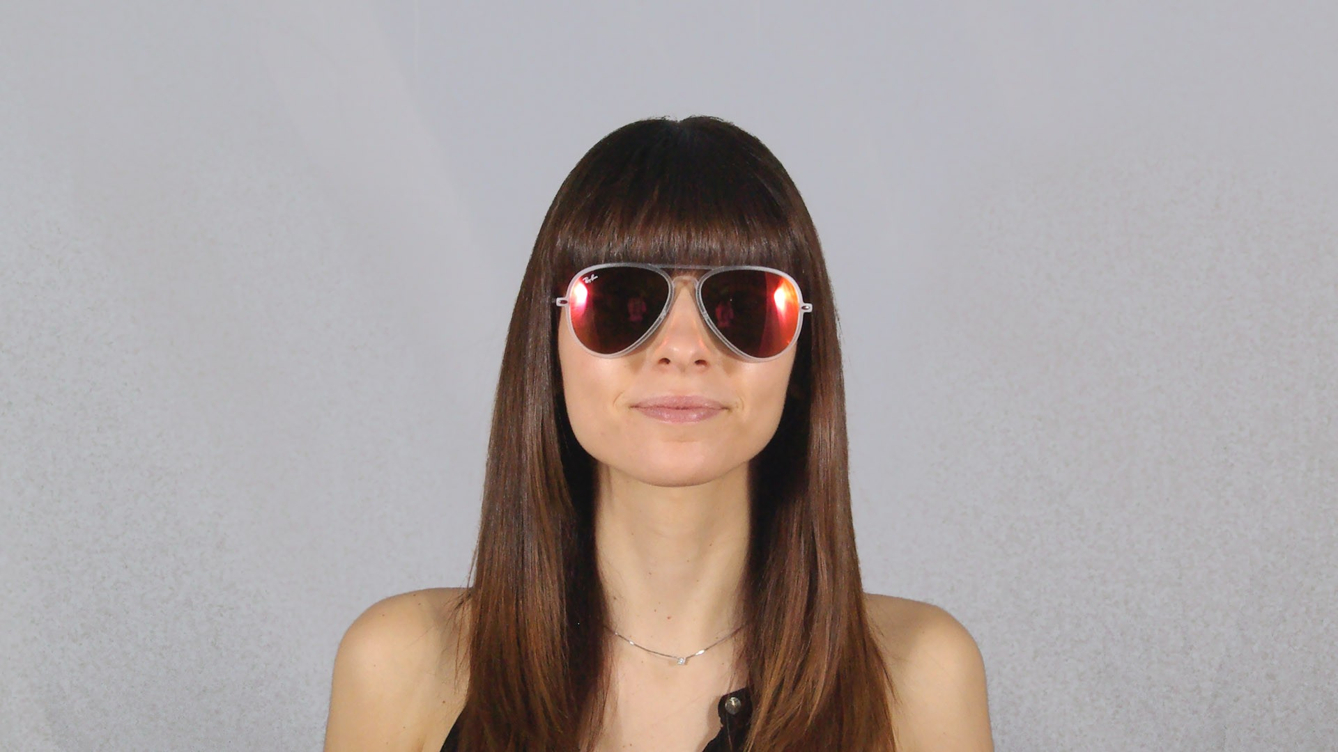 Sunglasses Ray-Ban Aviator Light Ray Clear Matte RB4211 646 6Q 56-17 Large  Mirror 4bd3001680