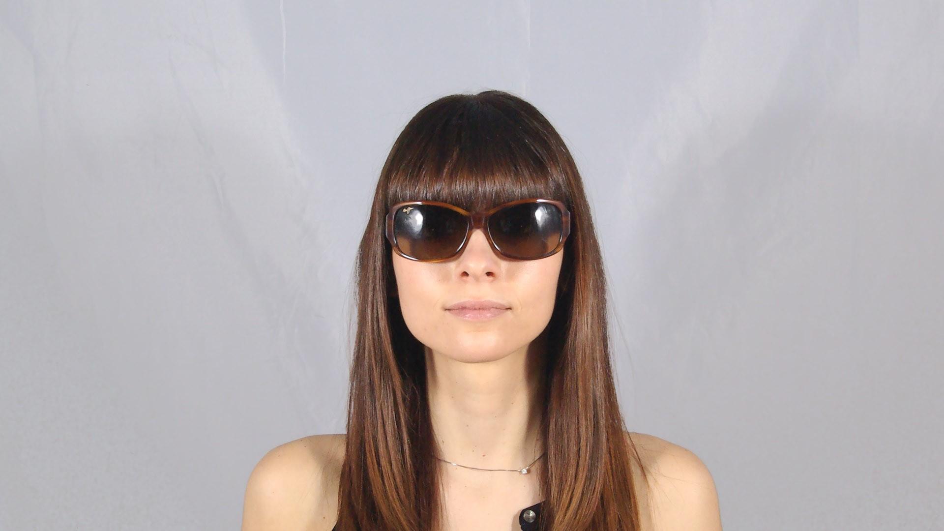 31bbbd57dd20b Sunglasses Maui Jim Nalani Brown HS295-03T 61-16 Large Polarized Gradient