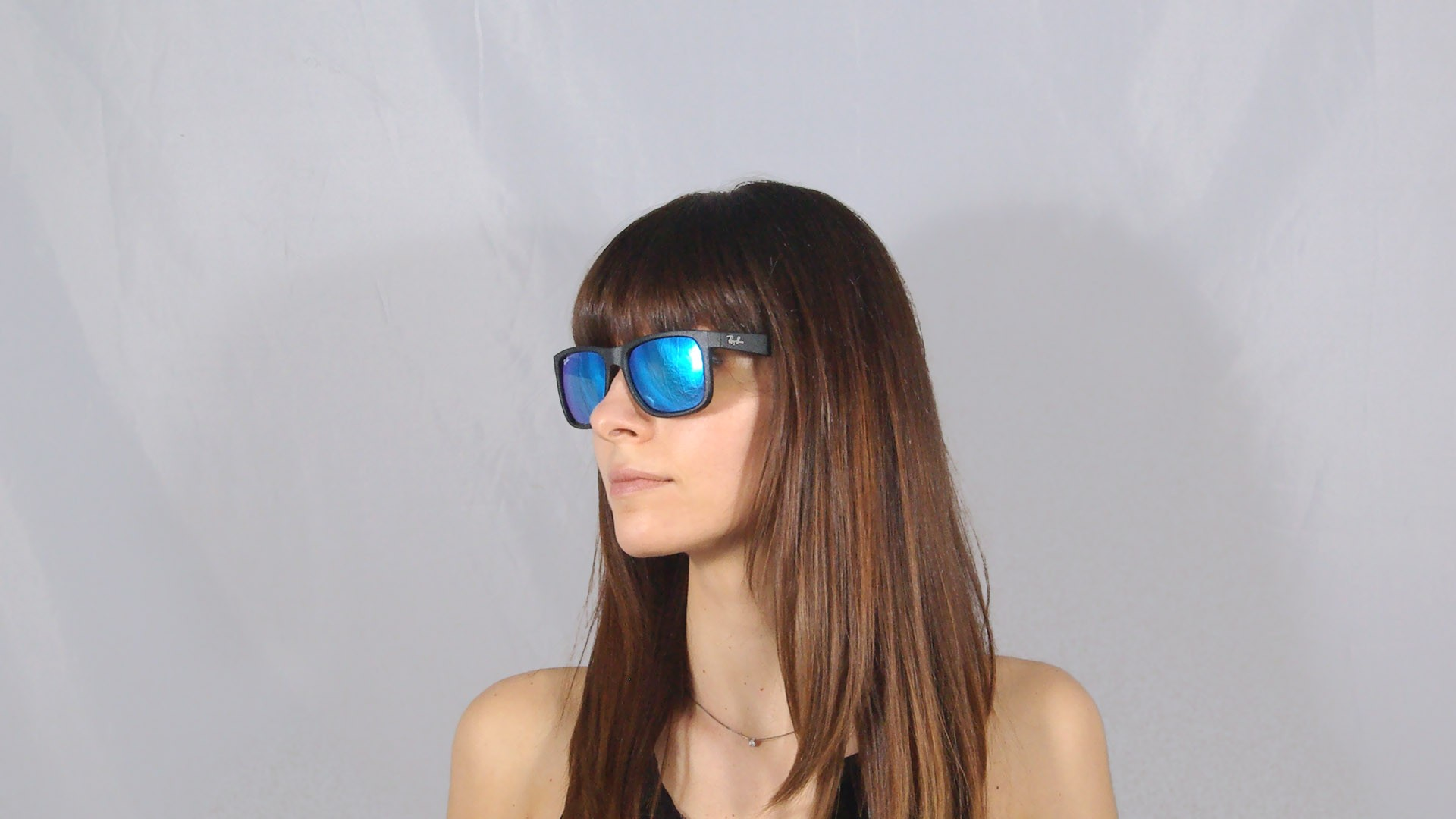 50c90bff9e ... sweden sunglasses ray ban justin black rb4165 622 55 55 16 large mirror  f5728 0c950