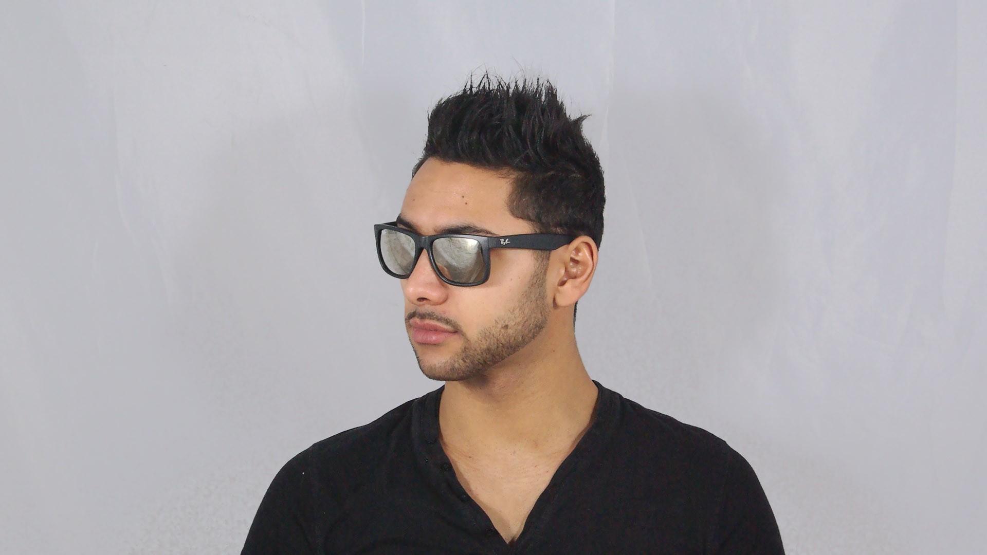 5fe7137e98 Sunglasses Ray-Ban Justin Black RB4165 622 5A 54-16 Medium Mirror
