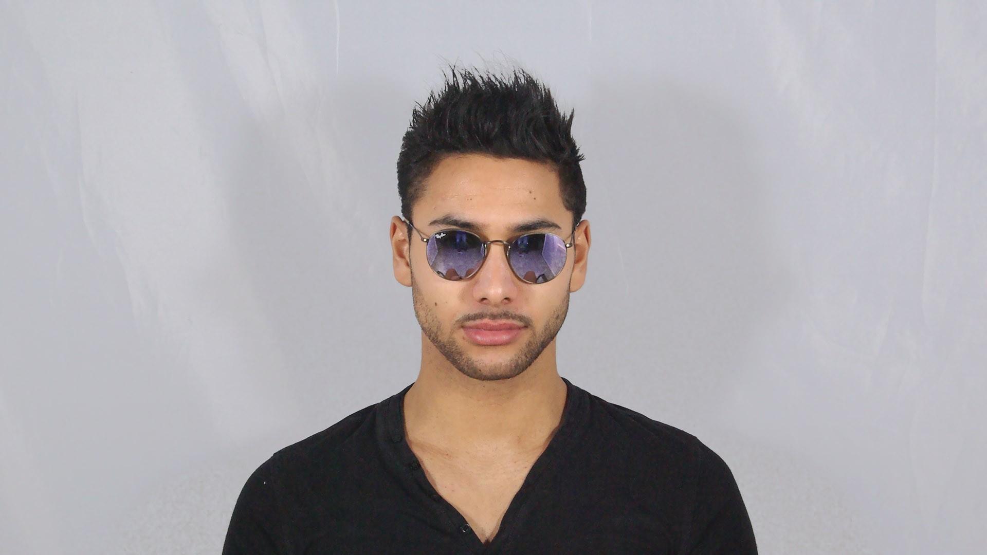 d80fee811e4 Sunglasses Ray-Ban Round Metal Brown Flash Lenses RB3447 167 4K 50-21  Medium Mirror