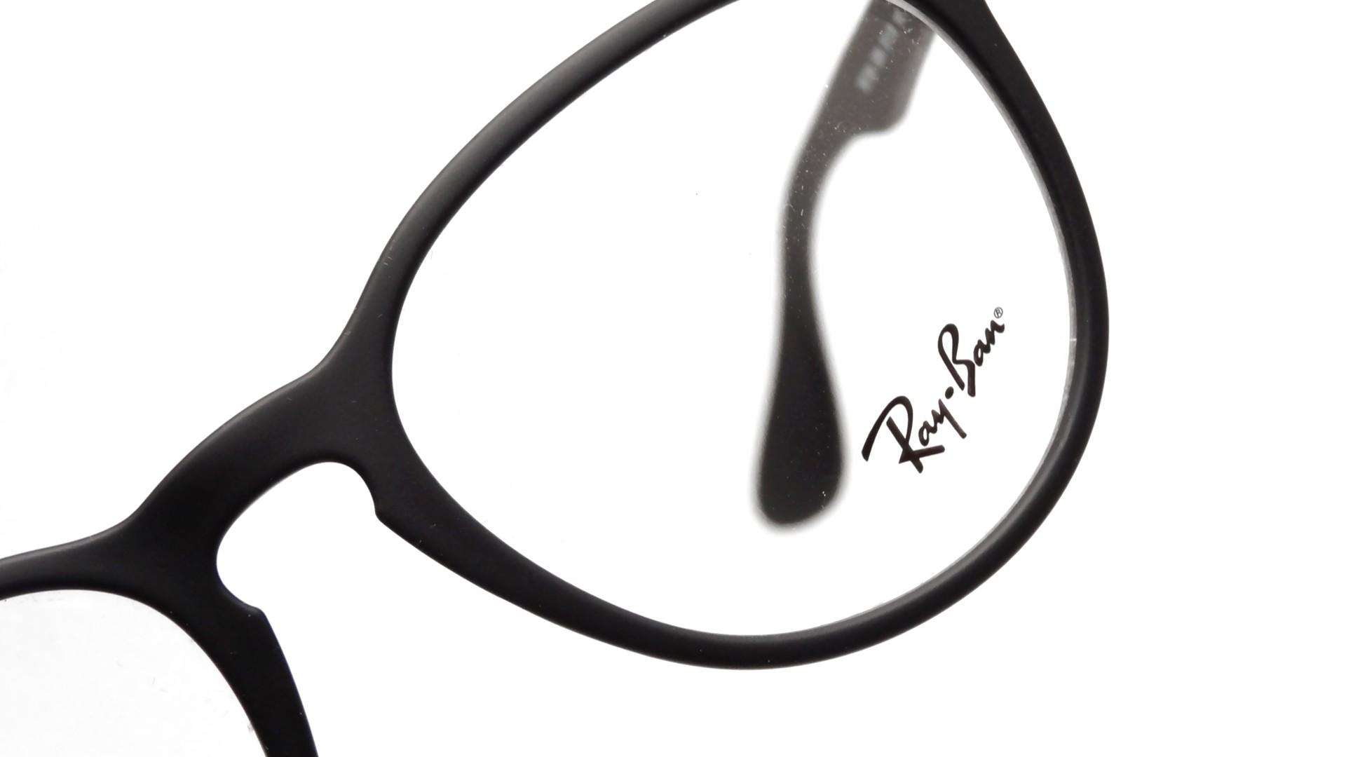 8a5d83a3a41c23 Lunettes de vue Ray-Ban Erika Optics Noir RX7046 RB7046 5364 51-18 Medium