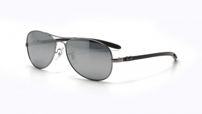 feed640498 Polarized. Ray-Ban Fiber Carbon Grey RB8301 004 K6 56-14 Polarisés 152
