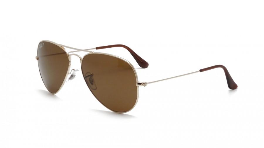 Ray-Ban Classic Aviator Sunglasses - Polarized Brown B-15