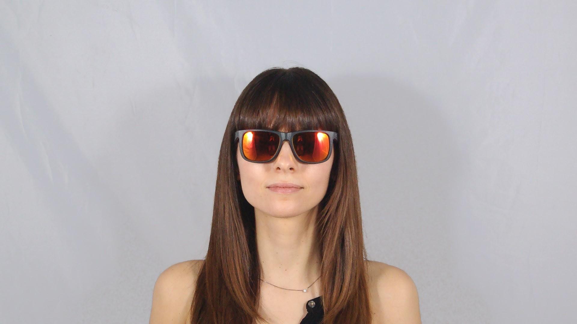 27c2ff10afd Sonnenbrillen Ray-Ban Justin Schwarz Matt RB4165 622 6Q 54-16 Breit  Verspiegelte Gläser