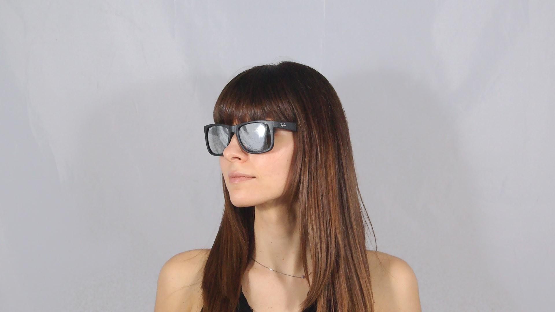1d4872d7e86 Sunglasses Ray-Ban Justin Black RB4165 622 6G 55-16 Large Mirror