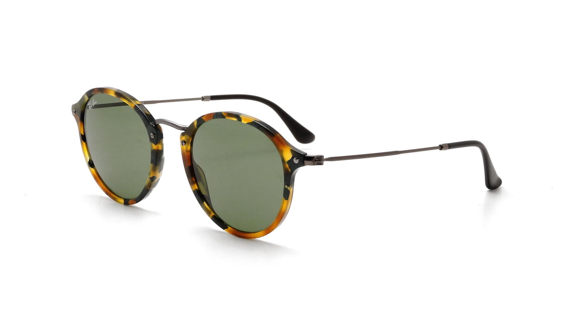 7e5e7e196e0 Sunglasses Ray-Ban Round Fleck Tortoise RB2447 1159 4E 49-21 Medium