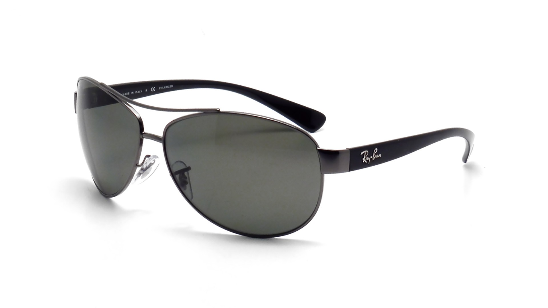 928baed02ce Sunglasses Ray-Ban RB3386 004 9A 67-13 Silver Large Polarized