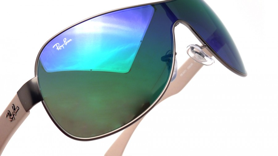 ray ban masque argent