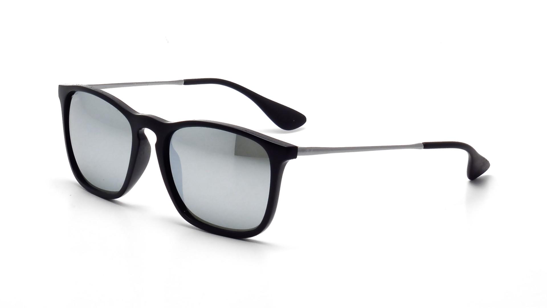 83f418279af9d Sunglasses Ray-Ban Chris Black RB4187 601 30 54-18 Medium Mirror