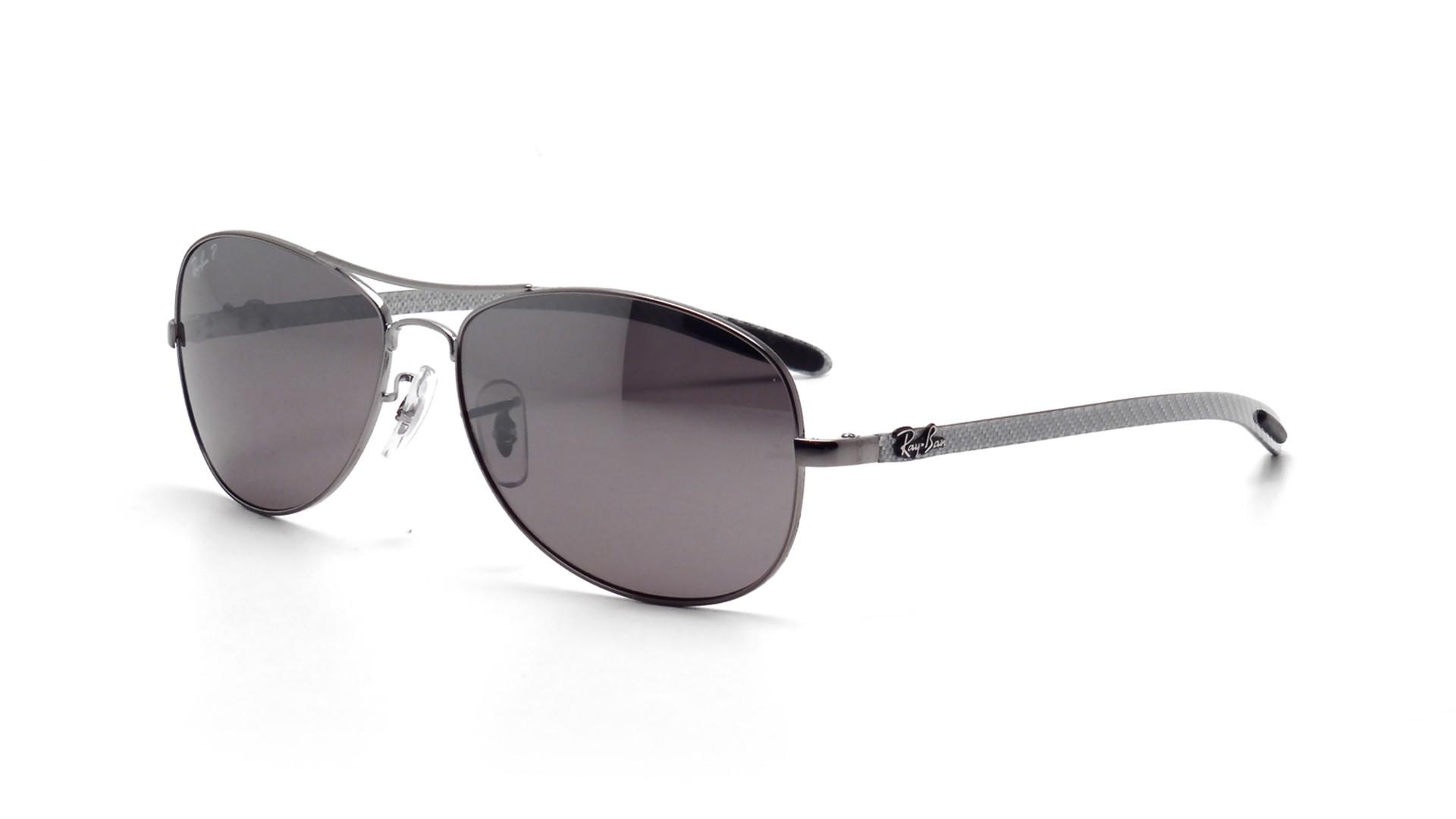 f7a2f3e86d Sunglasses Ray-Ban Fibre Carbon Grey RB8301 004 N8 59-14 Large Polarized  Mirror