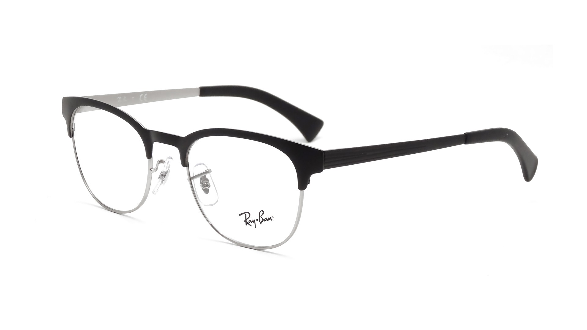efd828756acaf Lunettes de vue Ray-Ban Clubmaster Black RX6317 RB6317 2832 51-20 ...