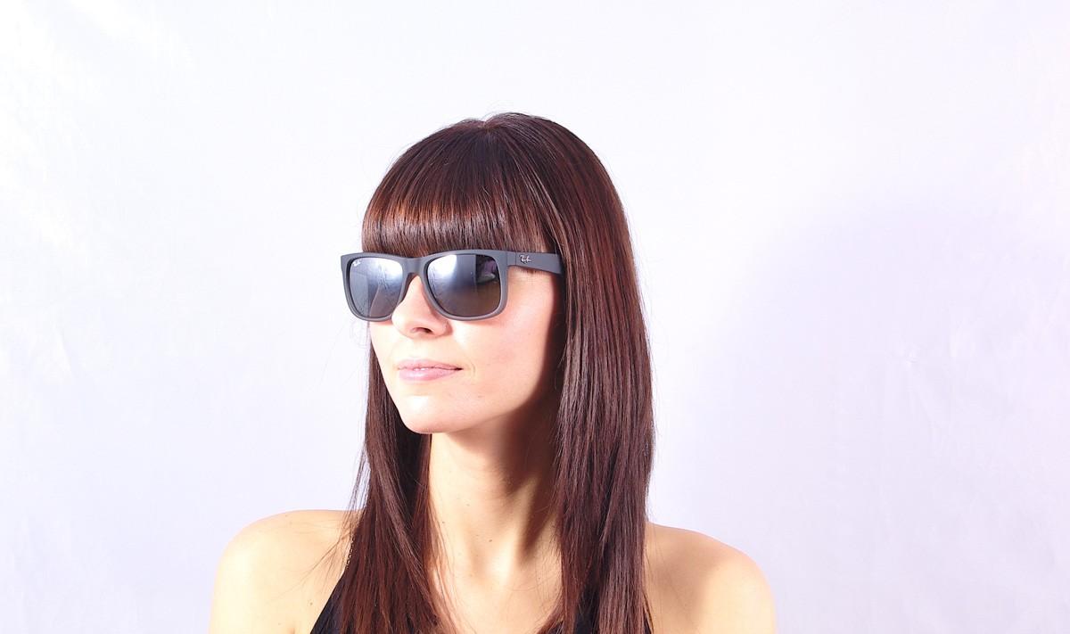 57093f73b Sunglasses Ray-Ban Justin Grey RB4165 852/88 54-16 Large Mirror