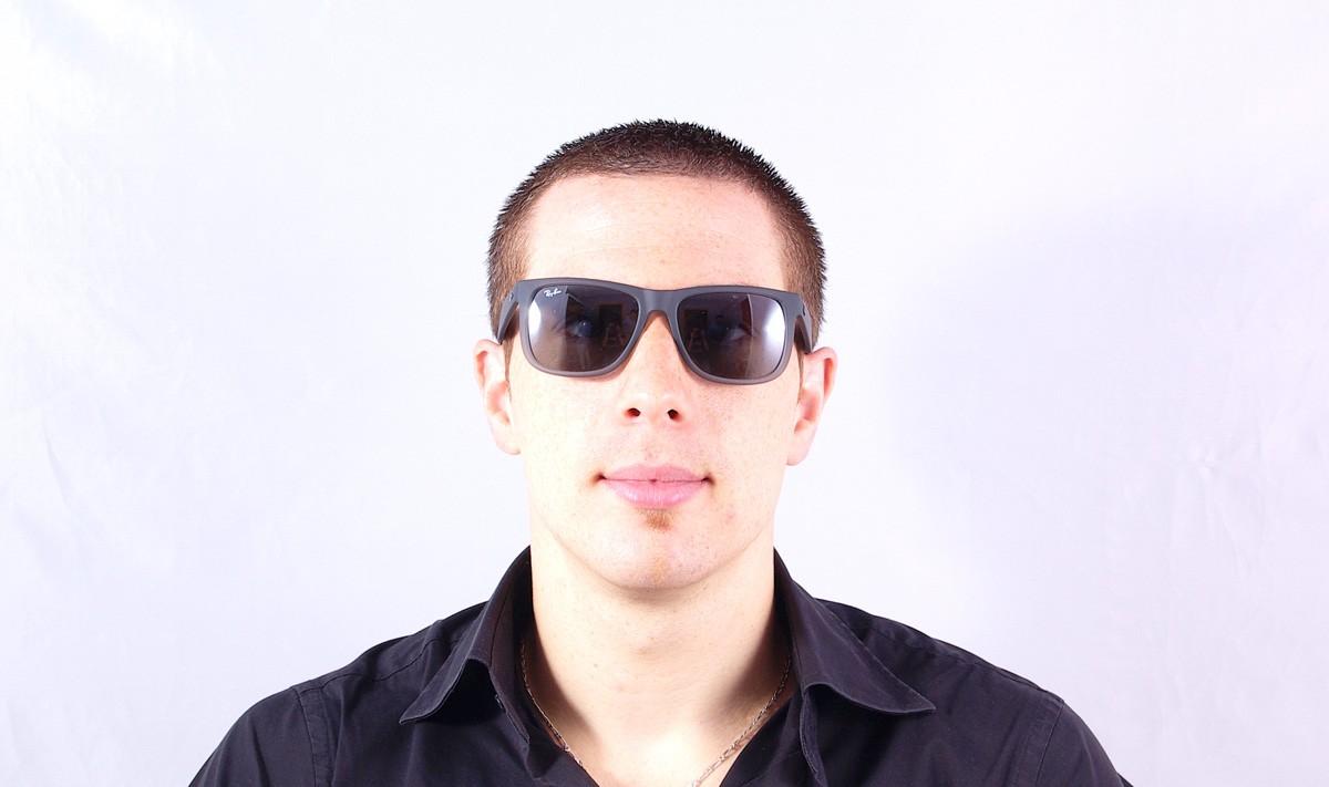 Ray Ban Justin Grey Rb4165 852 88 54 16 Visiofactory