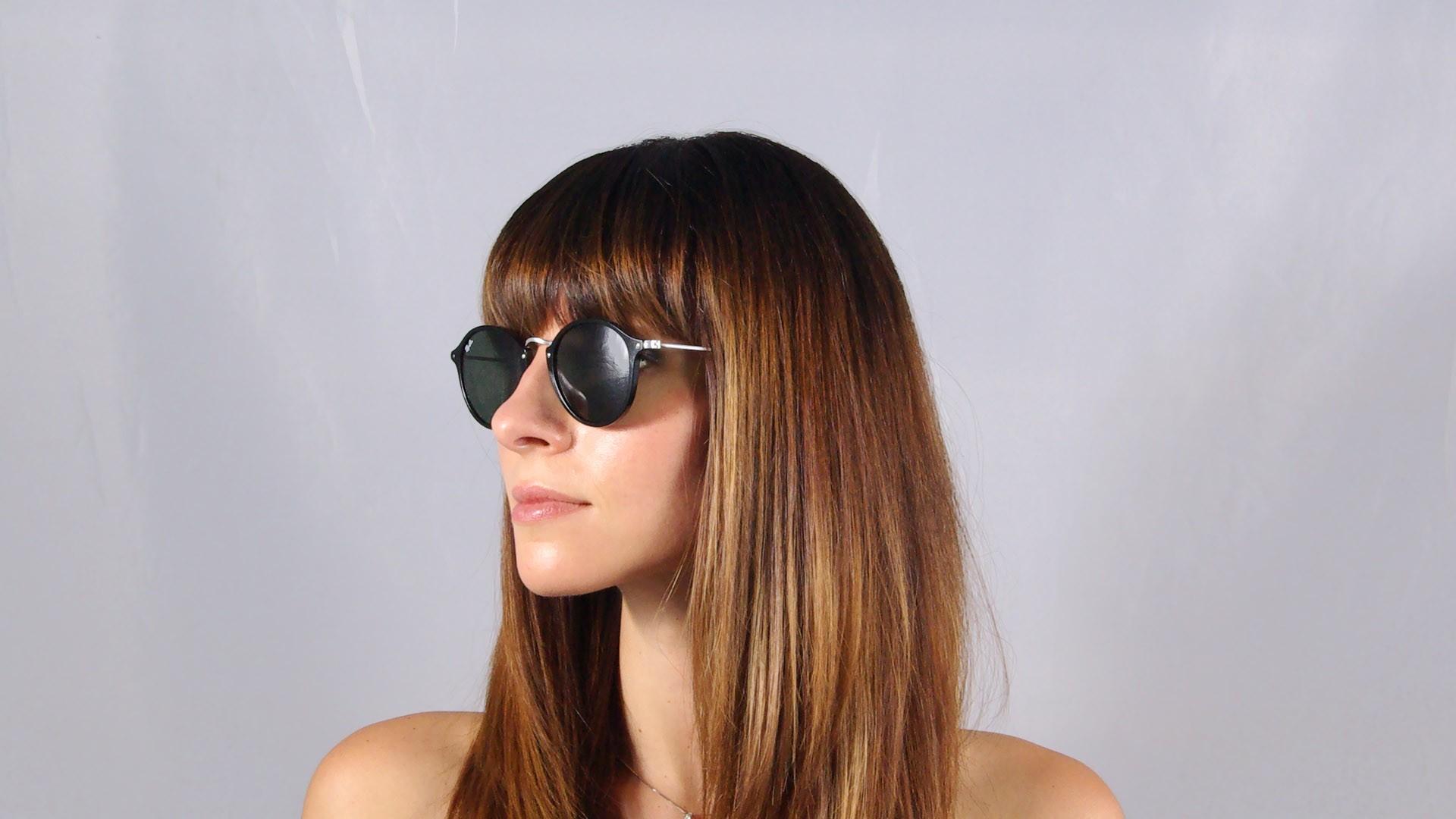 2ffbcbac17 Sunglasses Ray-Ban Round Fleck Black RB2447 901 49-21 Medium