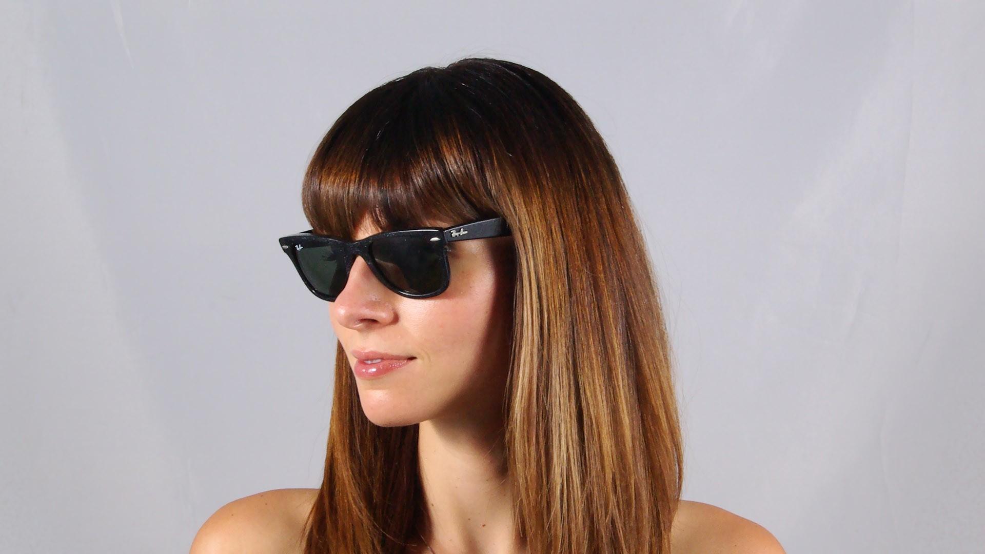 43e797febd492 Sunglasses Ray-Ban Original Wayfarer Distressed Black G15 RB2140 1184 50  Medium