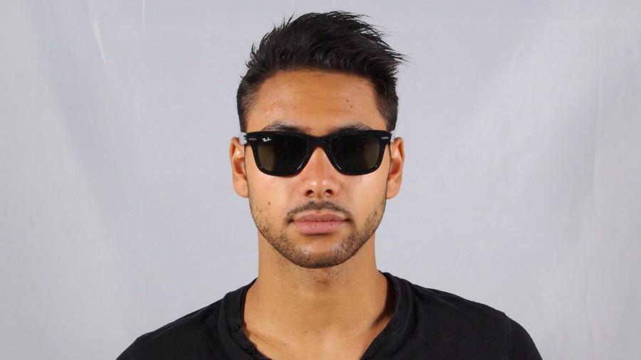 4c4bf9dbe5e37 ... aliexpress sunglasses ray ban original wayfarer distressed black g15  rb2140 1184 50 medium . 6ee48 b4a2a